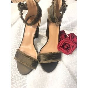 Express Green Block Heel